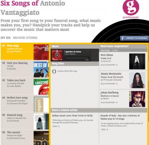Six Songs of Antonio
