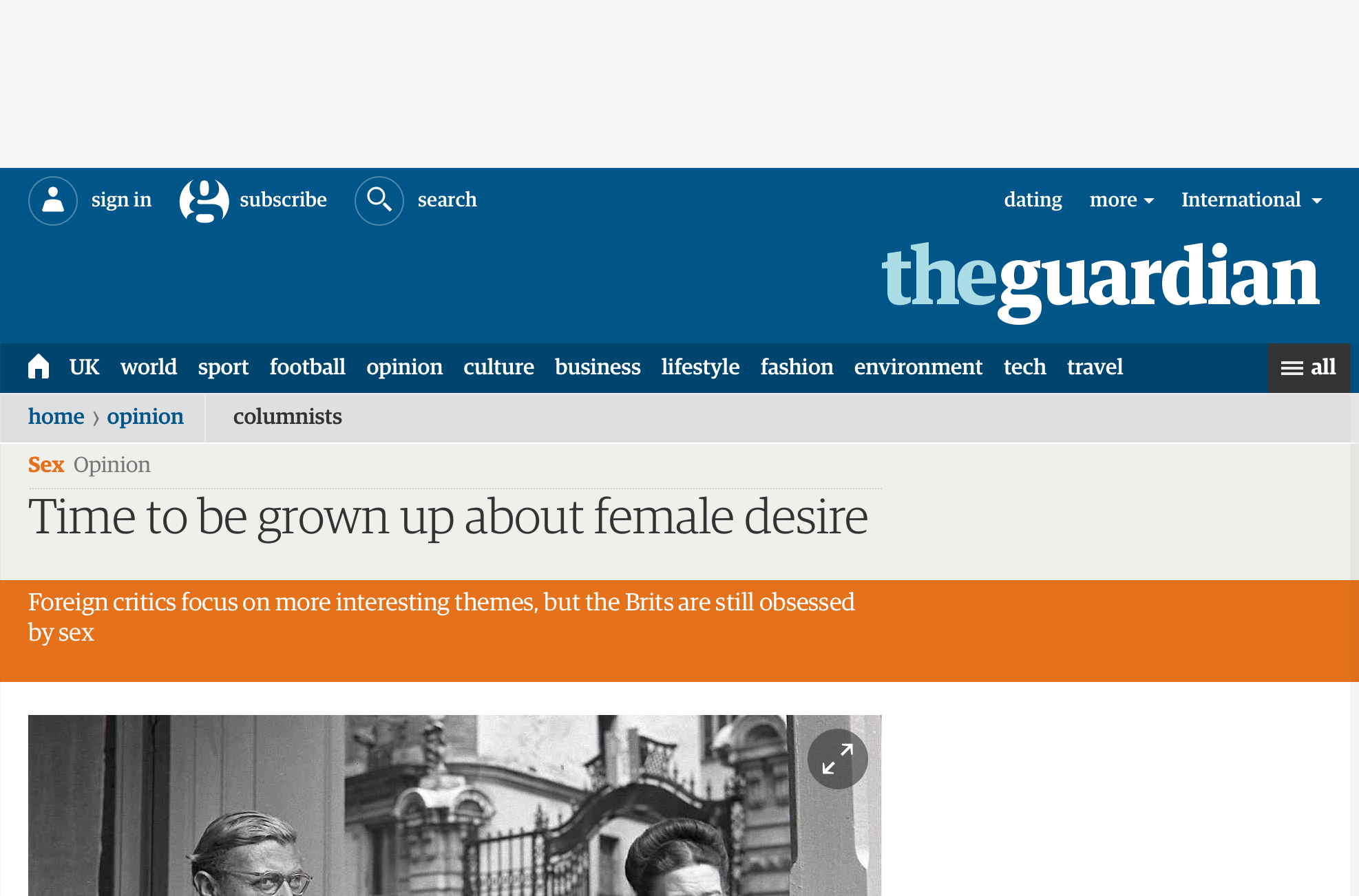 No Banner Ad! Taken from The Guardian, with the Disconnect add-on for Firefox.